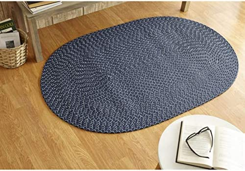 Better Trends Sunsplash Braid Collection is Durable and Stain Resistant Reversible Indoor Outdoor Area Utility Rug 100 Polypropylene in Vibrant Colors, 96 x 132 Oval, Galaxy