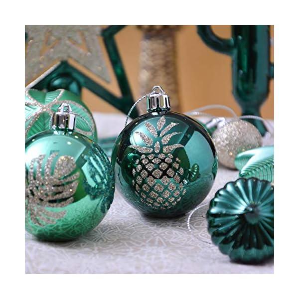 Valery Madelyn Palle di Natale 70 Pezzi di Palline di Natale, 3-10 cm di Strada di Campagna Rosso Verde e Oro Infrangibile Ornamenti di Palla di Natale Decorazione per la Decorazione 5 spesavip