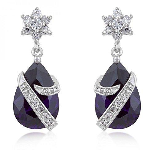 Royal Wrapped Amethyst Earrings - Royal Wrapped Amethyst Earrings