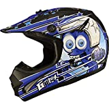GMAX GM46.2 Superstar Youth Boys Motocross Motorcycle Helmet - Black/Blue / Medium
