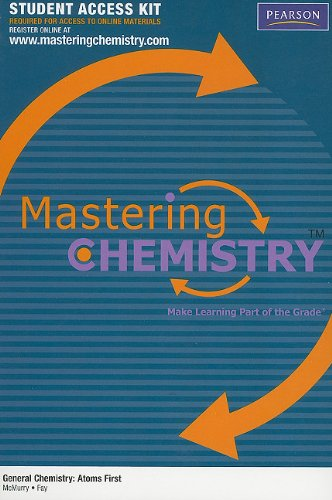 MasteringChemistry Student Access Kit for General Chemistry: Atoms First (MasteringChemistry (Access Codes))