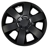 rim cover 14 - TuningPros WSC-226B14 Hubcaps Wheel Skin Cover 14-Inches Matte Black Set of 4