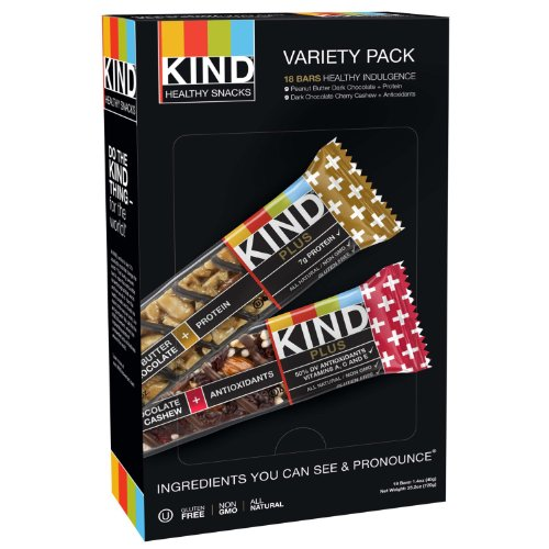 KIND Plus Bars, Variety Pack (1.4 oz. bars,18 ct.) (pack of 6) by KIND