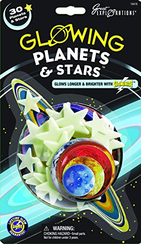 Great Explorations Glow In The Dark Planets & Stars, quantity 30
