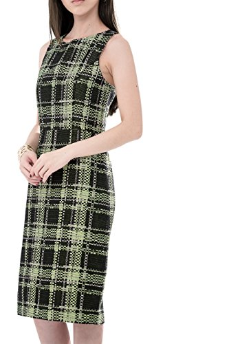 Everyday Elegance Women's Neon Green Tweed Sheath Business Casual Work Dress (Small, Neon Green) (Sailor Outfit Ebay)