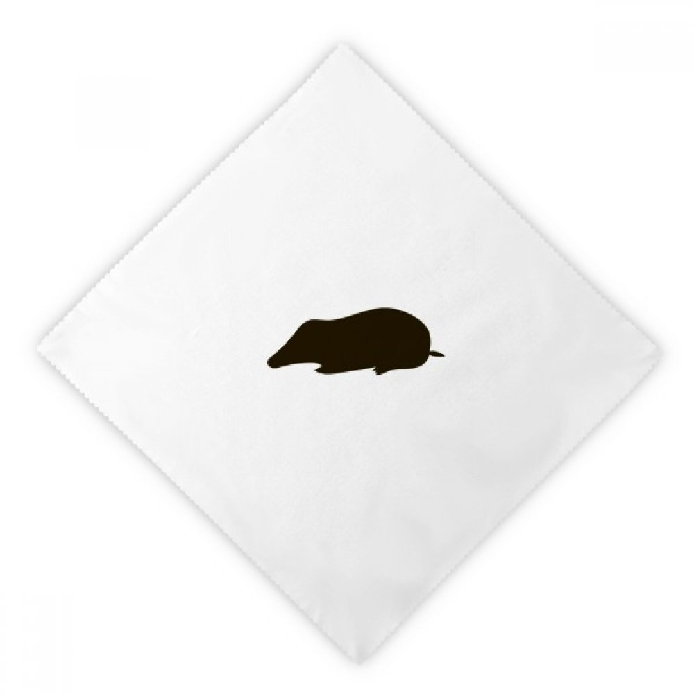 diythinkerブラックMole動物Portrayalディナーナプキンランチホワイト再利用可能な布2個   B07G1ZVF7N