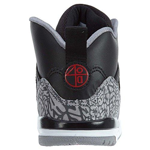 Vorschule Nike Air Jordan Spizike BP Schwarz Zement Schwarz / Weiß / Rot Schwarz / Varsity Rot-Zement Grau
