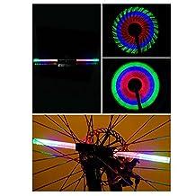 Baiyu Super Bright 64 Duplex LED USB Rechargeable Bike Bicycles Wheel Signal Lights Waterproof Colorful DIY 30-pattern Cycling Wheel Tire Spoke Flash Light Steel Wire rim Lamp Bike Accessory