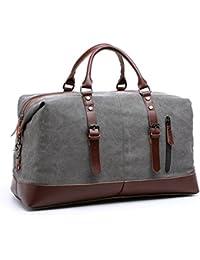 36355cf1dbf Canvas Travel Duffel Bag Sport Tote Bag Weekender Overnight Luggage. Kenox