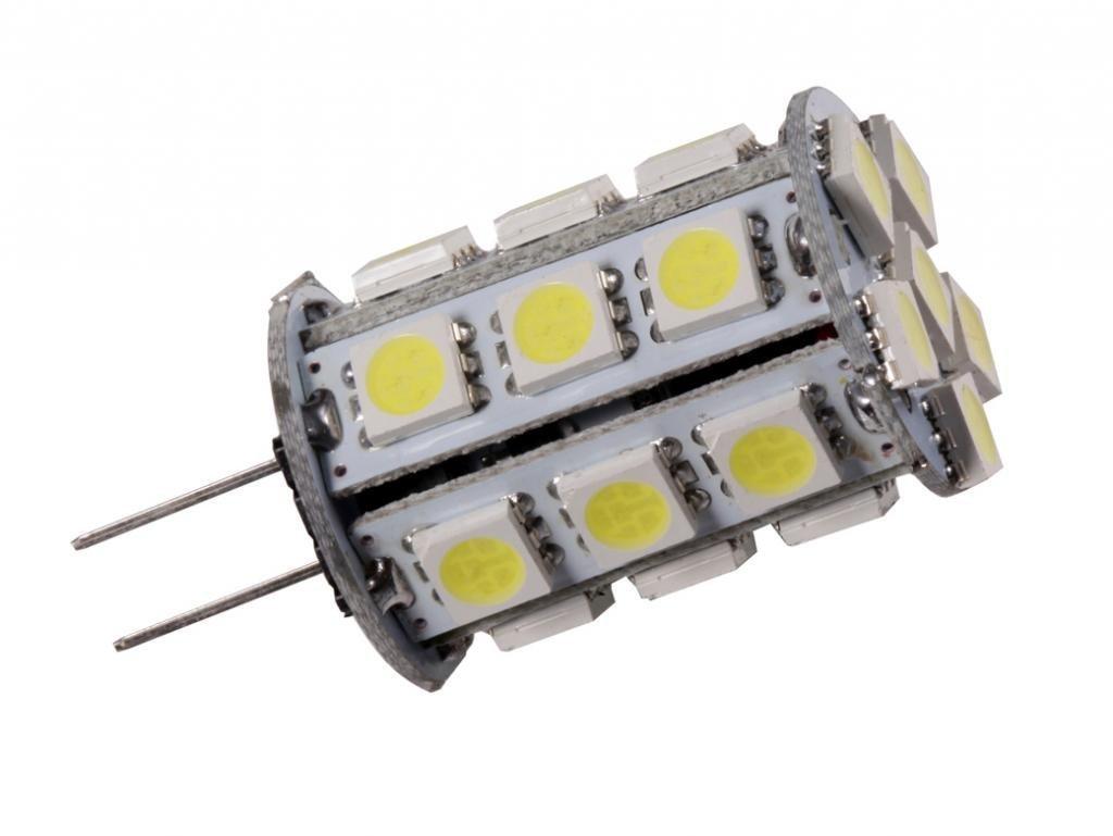 GRV G4 Bi-Pin JC Base LED Halogen Replacement Bulb 24-5050 SMD High Power LED lamp Cool White AC/DC 12V-24V Pack of 10