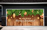Merry Christmas for 2 Car Garage Door Covers Banners Outdoor Billboard Decor Garage Door Full Color 3D Print Christmas Tree Decorations House Murals size 82x188 inches MADE IN THE USA DAV212