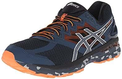 ASICS Men's GT 2000 4 Trail Running Shoe, Mediterranean/Dark Slate/Hot Orange, 7 M US