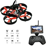 DLFPV Mini FPV RC Drone Quadcopter with HD 600TVL Camera 2.4Ghz 8CH Remote Control and 4.3inch 5.8G 40CH LCD Monitor Receiver Altitude Hold 6-Axis Gyroscope RTF UFO Quadcopter