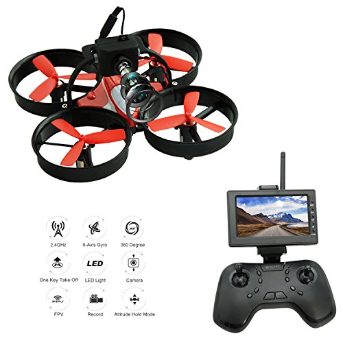 Receiver Holds (DLFPV Mini FPV RC Drone Quadcopter with HD 600TVL Camera 2.4Ghz 8CH Remote Control and 4.3inch 5.8G 40CH LCD Monitor Receiver Altitude Hold 6-Axis Gyroscope RTF UFO Quadcopter)