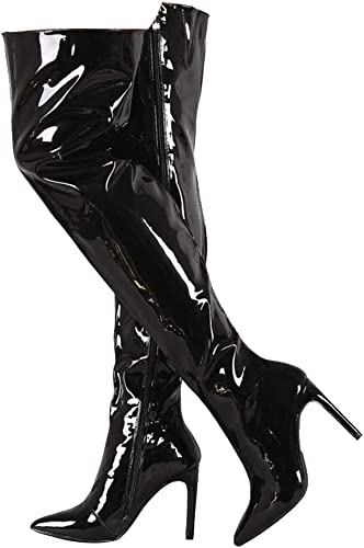Themost Womens Long Thigh High Patent