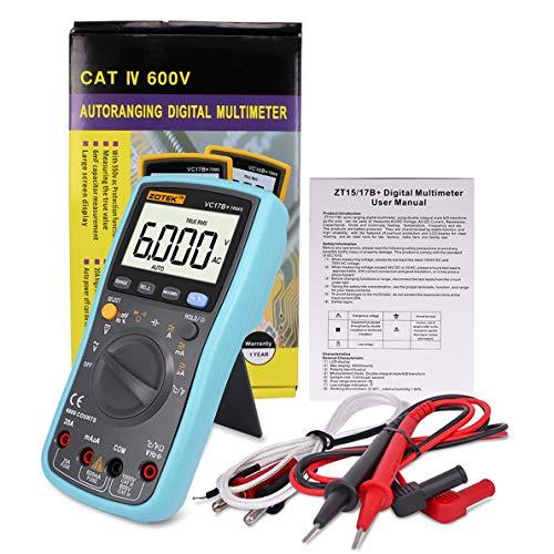 uqiangbao VC17B Digital Multimeter 6000 Counts Backlight AC DC Ammeter Voltmeter Ohm Capacitance Meter Portable ()