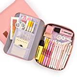 Image of Pencil Pouch for Boys Girls PYFK Pencil Case for School Office Supplies Easy Access with Big Capacity and Multi Use(Pink)