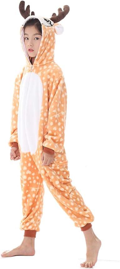 Niños Niñas Unisex Cosplay Pijamas Onesie Unicornio Disfraz Animal Ropa de Dormir