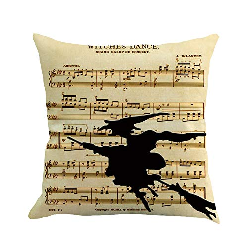 UONQD Home Decor Cushion Cover Happy Halloween Throw Pillowcase Pillow Covers (45cm45cm/18