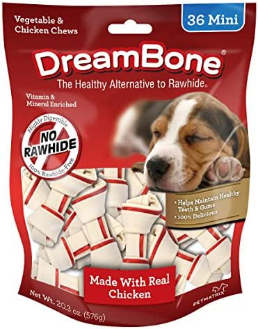 Dreambone Vegetable & Chicken Dog Chews, Rawhide Free, Mini, 36-Count - DBC-02028