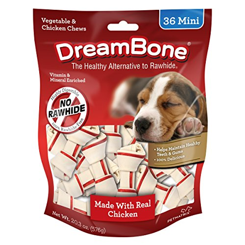 DreamBone Vegetable & Chicken Dog Chews, Rawhide Free, Mini, 36-Count