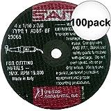 Sait 23065 4'' x 3/8'' x 1/16'' Thick Metal Cutting Wheel 100-Pack