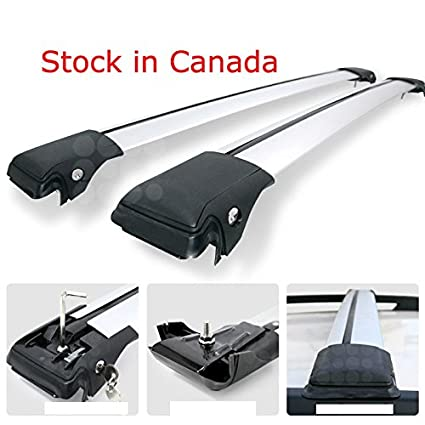 Universal Roof Rack Raised Side rail Crossbars Rooftop Cross Bars Lockable Super Muting (SMU90) ROKIOTOEX