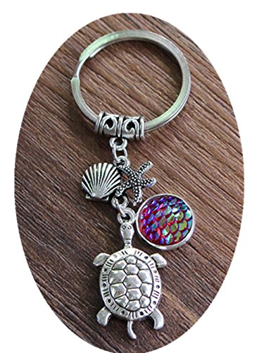 Keychain,Sea turtle charm,Gift for her,Gift for Hi ()