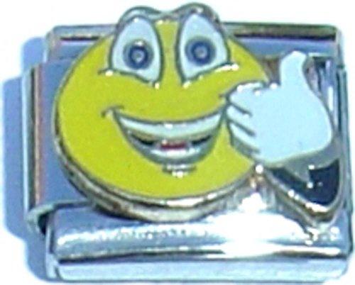Thumbs Up Smiley Italian Charm