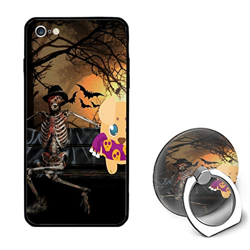 Scared Halloween Dog iPhone 6S Case/iPhone 6 Case, Ultra Thin iPhone Case with Ring Stand Anti-Scratch Defender Case Compatible for iPhone 6/6S