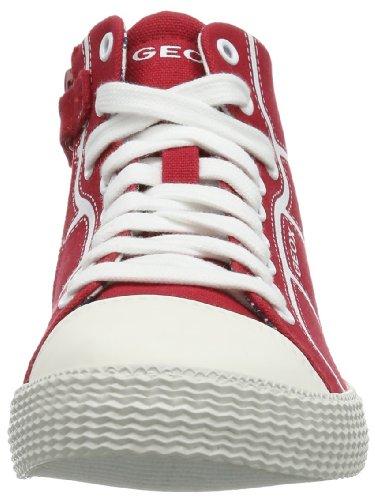 Geox J Smart B. A - Zapatillas de Deporte de tela niño Rojo (Rouge (Red))