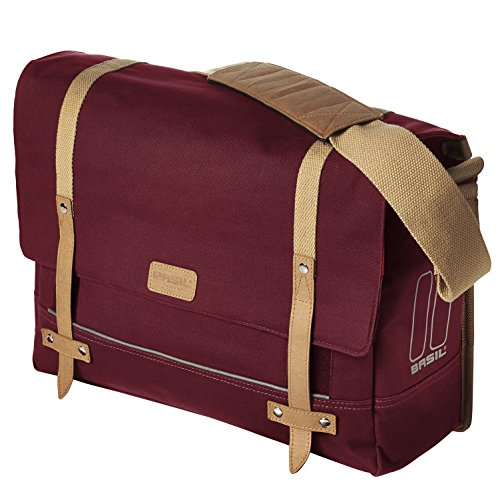 Basil Portland Messenger Bag and Bicycle Pannier - Dark Red - 20 Litre