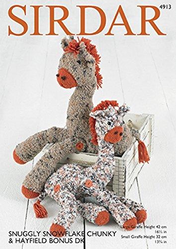 Amazon Sirdar Giraffe Toys Snowflake Knitting Pattern 4913
