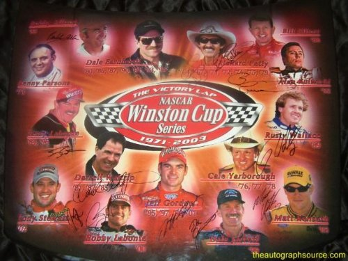Nascar Winston Cup Champions Signed Car Hood ()