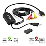 HDMI to RCA Converter, HDMI to RCA Cable, 1080P HDMI to AV Adapter Cable Supports PAL/NTSC for Amazon Fire Stick, Roku, Chromecast, Apple TV, PC, Laptop, Xbox, HDTV, DVD Etc