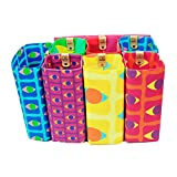 12 Magnetic Detachable Bag in Bag Organizer Insert for Purse/Tote/Handbag, Bright Flagship Prints, 7'' 8-pc Tote Set
