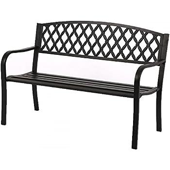 Amazon.com : Patio Park Garden Bench Porch Path Chair Outdoor Deck ...
