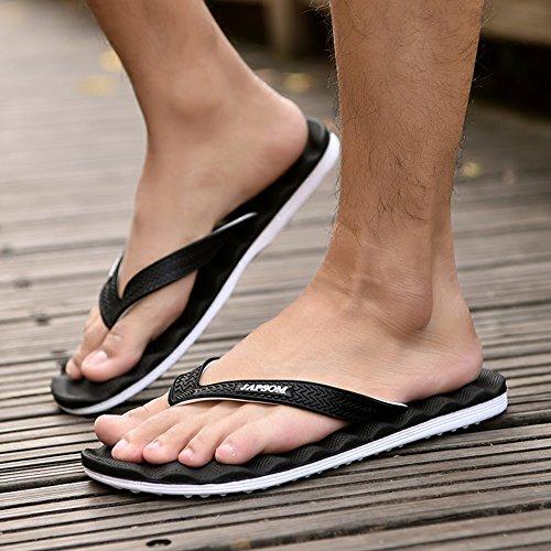 5 Sandalias Antideslizante Casual Masaje uk7 Aire Blanco 8 Male Zapatillas Playa Pinch Qidi Tamaño Summer Al Libre color De Eu41 Negro tqUwnSd