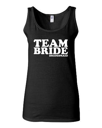47374d084805e Junior Team Bride Bridesmaid Graphic Novelty Tank Top at Amazon Women s  Clothing store