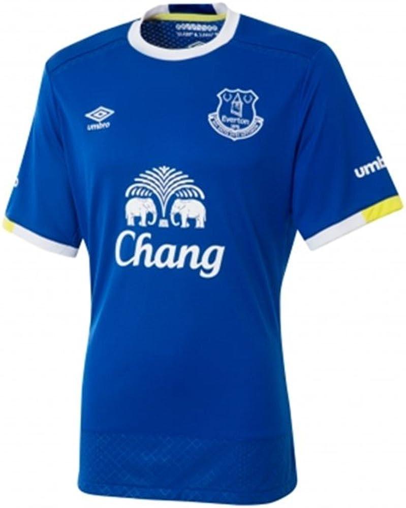 Umbro Everton Home S/S Camiseta de fútbol Oficial, Hombre: Amazon ...
