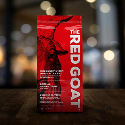 (The Red Goat, Surprisingly Smooth Coffee with an Extreme Caffeine Kick, Ground, 1 Pound Bag (16 Ounce) )
