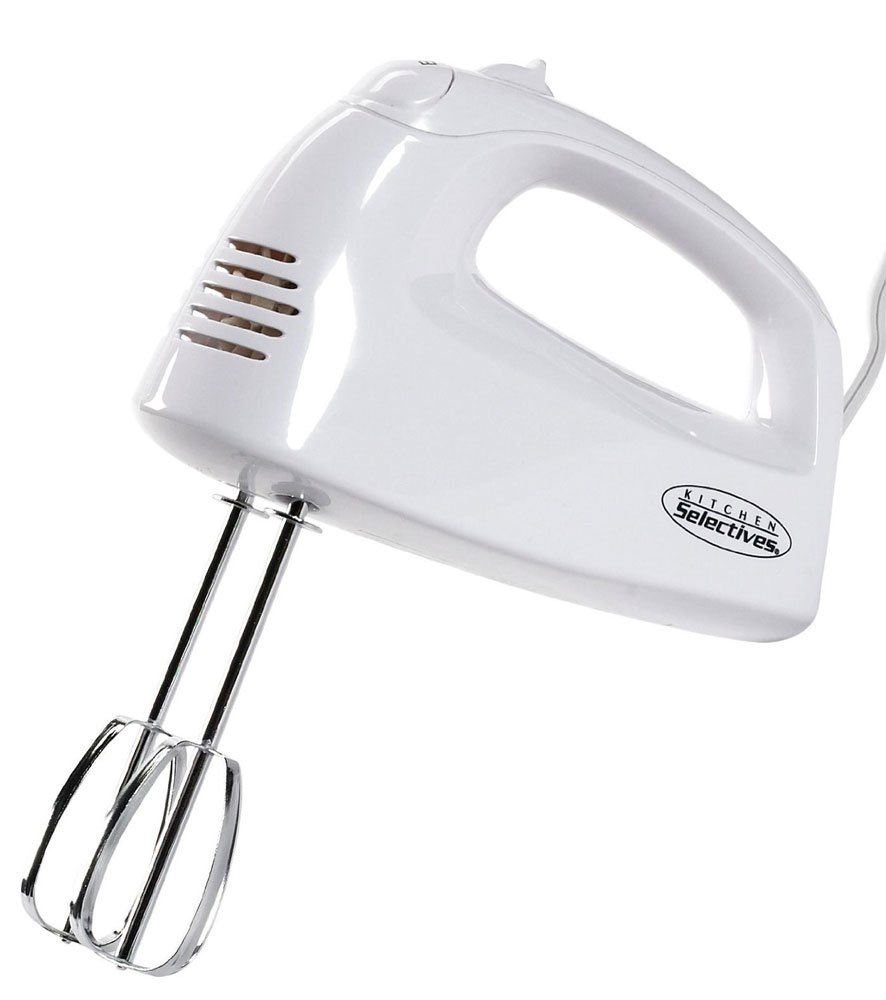 Kitchen Selectives HM-2007 Hand Mixer, White by Kitchen Selectives