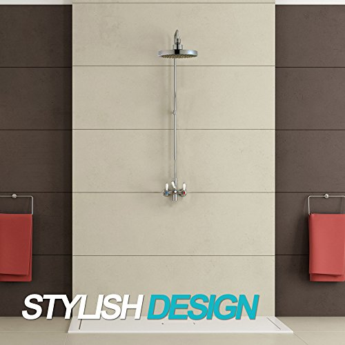 Shower Head - High Pressure Rain - Luxury Modern Look - Easy Tool Free Installation - The Perfect Adjustable & Heavy Duty Universal Replacement For Your Bathroom Shower Heads by SparkPod (Image #4)