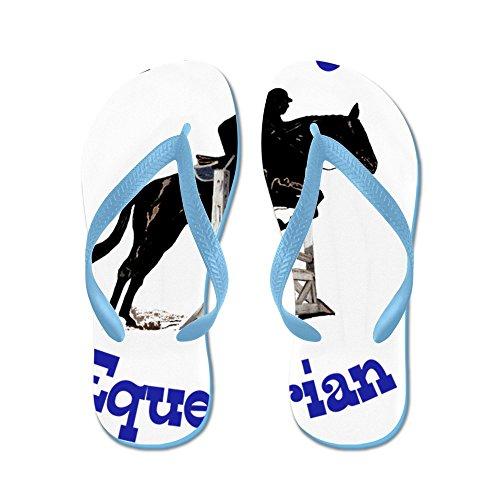 Cafepress Leuke Toekomstige Paardensport Paard - Flip Flops, Grappige Thong Sandalen, Strand Sandalen Caribbean Blue
