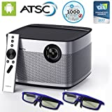 XGIMI H1 Native 1080p Projector HD Android Smart Projector 3D Home Theater Projector TV Harman Kardon Customized Stereo ATSC Local TV Support and 2 pairs 3D Glasses