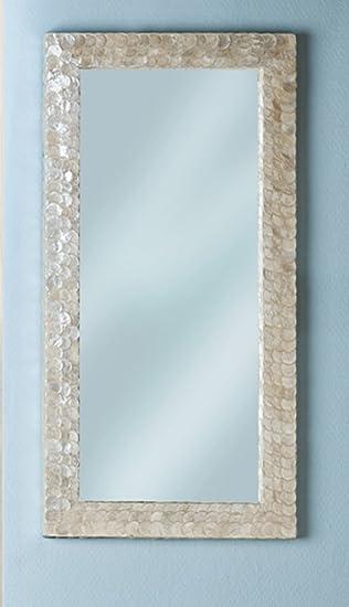 Fabulous GILDE Spiegel Muschel Capiz-Spiegel H 60cm Wandspiegel 2-sort LB67