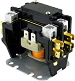 amazon com supco dp30242 contactor 30a 24v 2 pole home & kitchen  pc140a c140a contactor single one 1 pole 40 amps 24 volts a c air conditioner