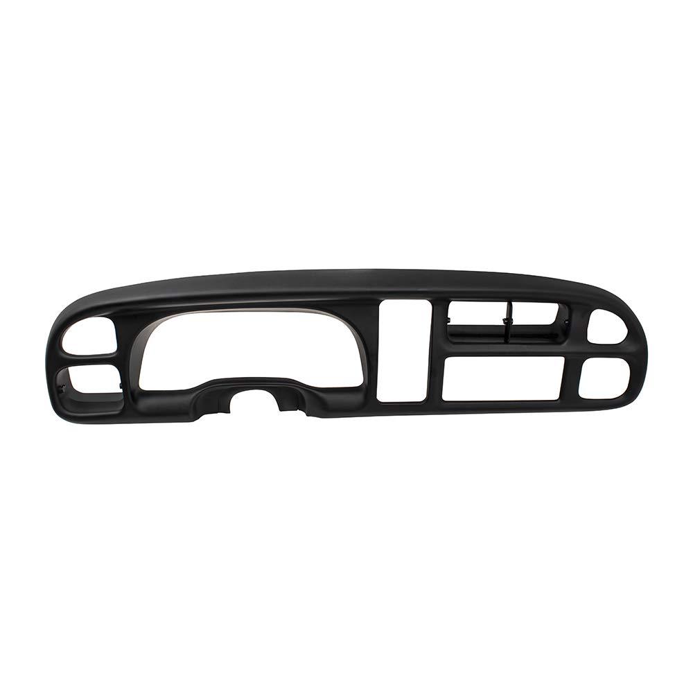 BROCK Dash Instrument Cluster Bezel Black w/Clips Replacement for 98-02 Dodge Ram Pickup Truck 68042746AC 5GK51DX9AA 5EU11DX9AB