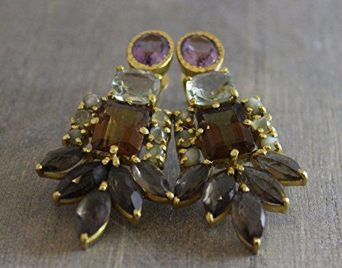 Smoky Quartz Chandelier Earrings - 6