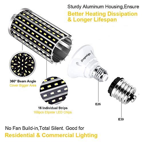 50W Super Bright LED Corn Light Bulbs(400 Watt Equivalent) - E26/E39 Mogul Base LED Bulbs - 6500K Daylight 5000 Lumens… 2